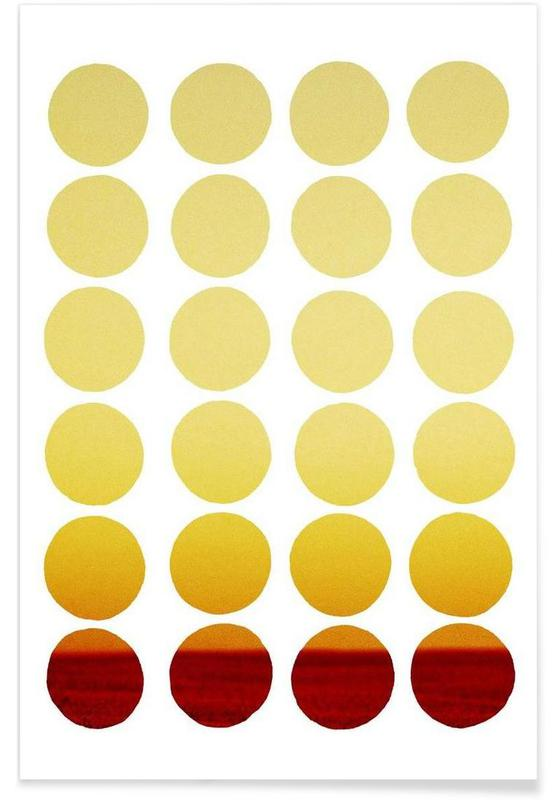 Warm dots Poster