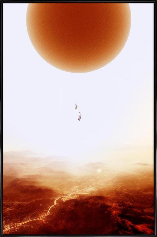 Mars Diving Framed Poster