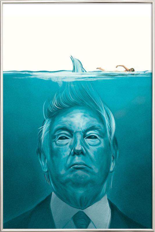 Trump Flat Swimmer affiche sous cadre en aluminium
