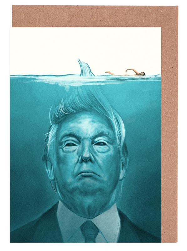 Trump Flat Swimmer Greeting Card Set