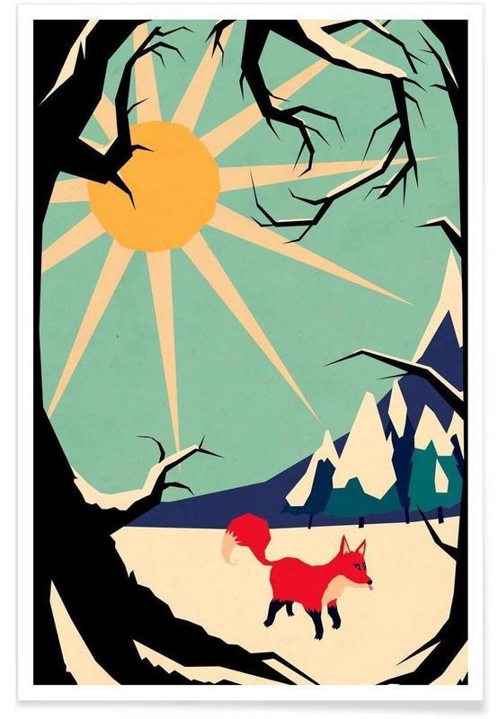 Fox roaming around Poster