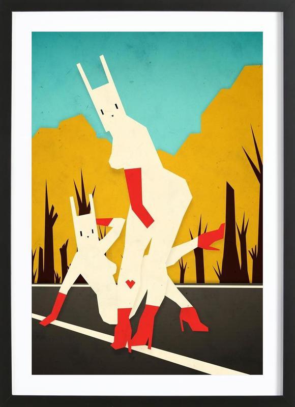 Roadside bunnies Framed Print