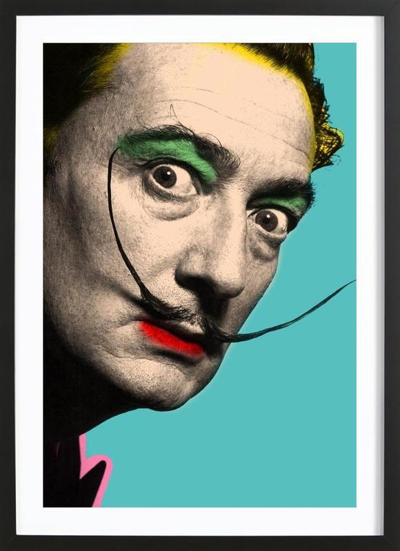 Salvador Dali -Bild mit Holzrahmen