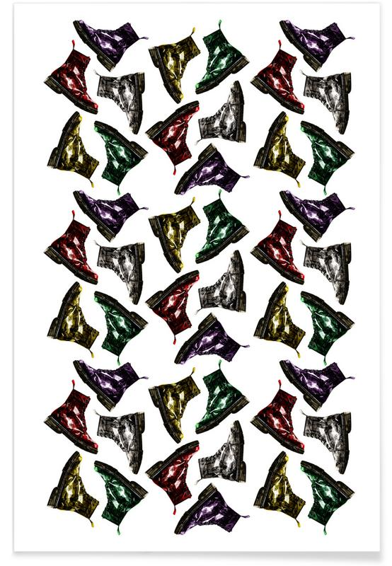 Whats Up Dog Pattern 2 Poster