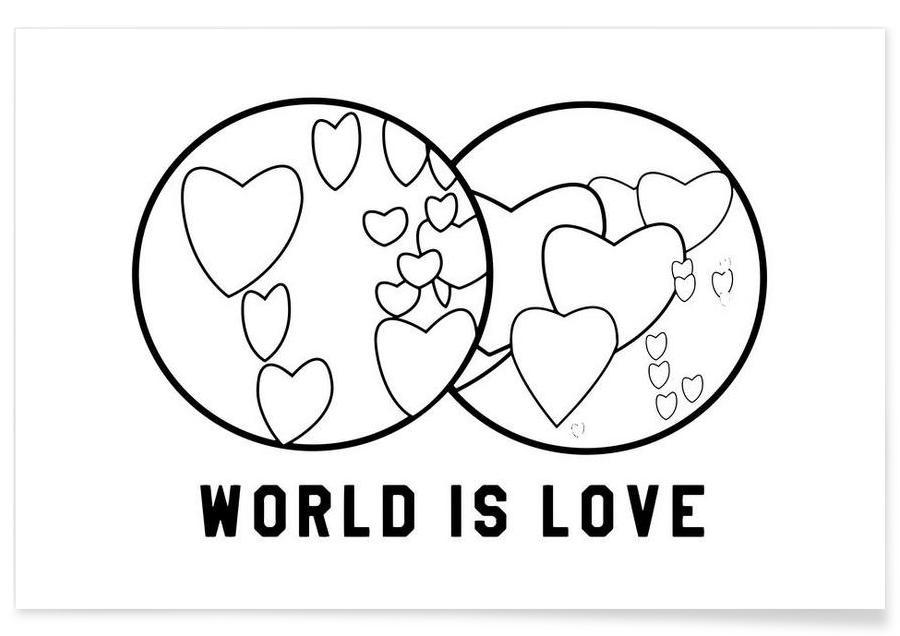 World Is Love White Poster