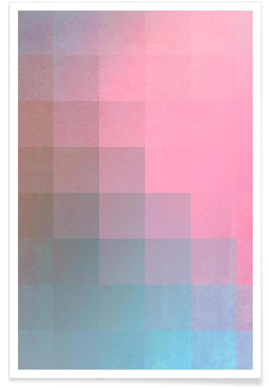 Girly Pixel Surface affiche