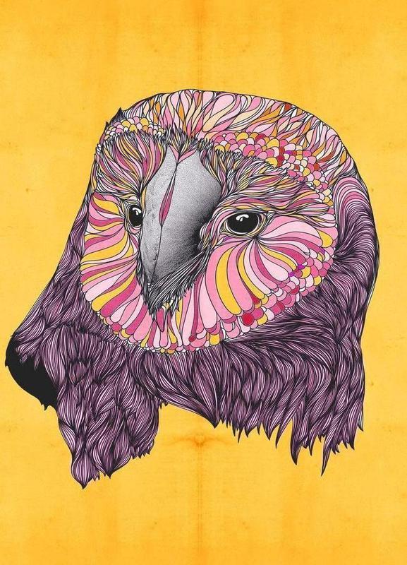 Lovely owl canvas doek