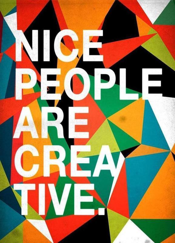 Nice people are Creative Canvas Print