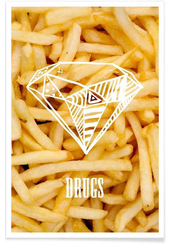 Diamonds and French Fries Poster