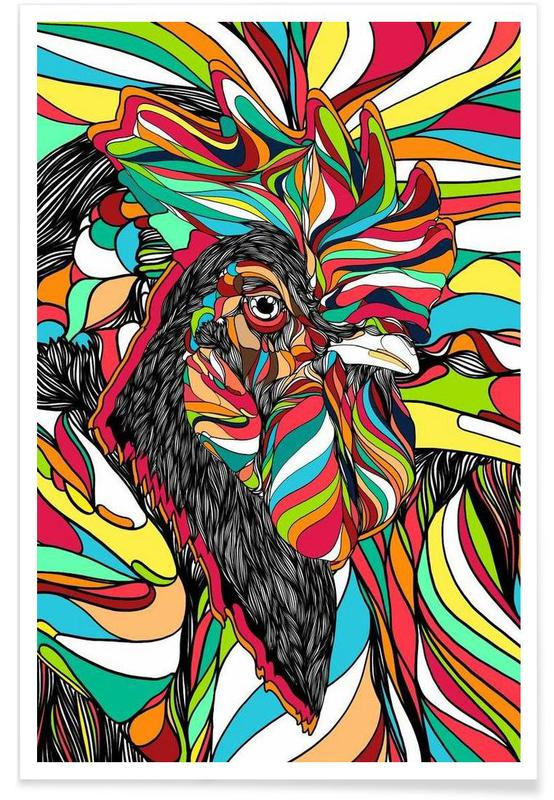 Tropical Cock Poster