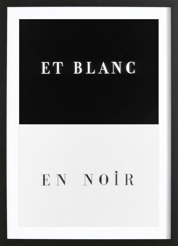 Et blanc en noir Framed Print