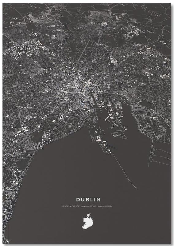 Dublin City Map Notebook