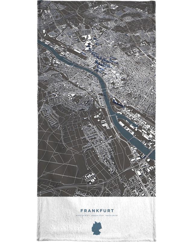 Frankfurt City Map Bath Towel