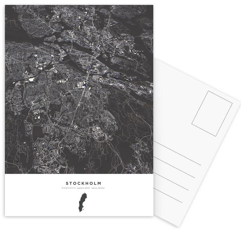 Stockholm City Map -Postkartenset