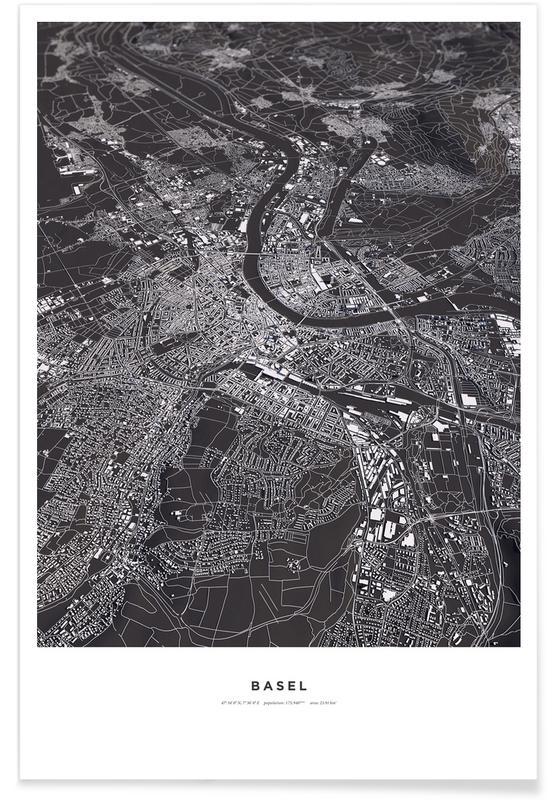 Basel 3-D Map Poster