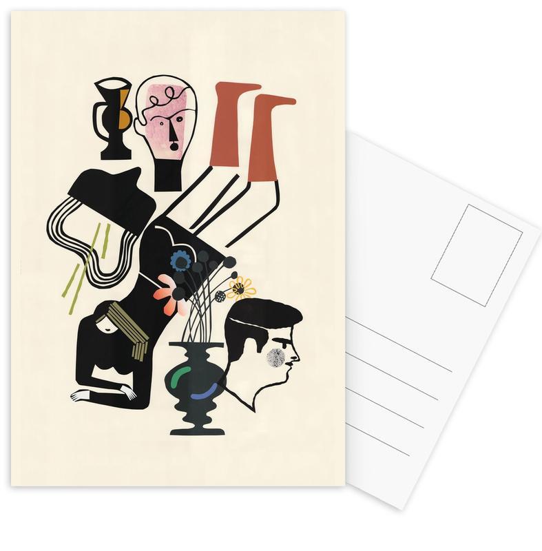 Liegende cartes postales