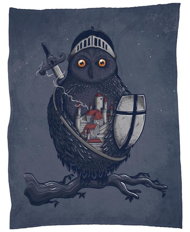 Night Watchman Fleece Blanket