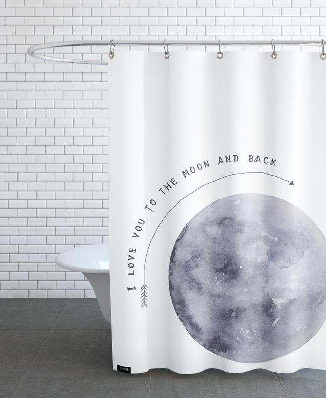 Moon -Duschvorhang