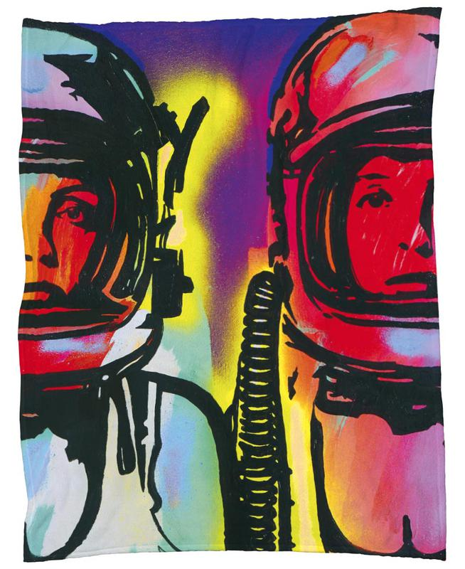 Astronauts Fleece Blanket