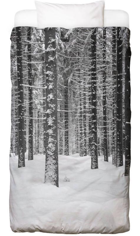 Deep Dark White Forest Bettwäsche