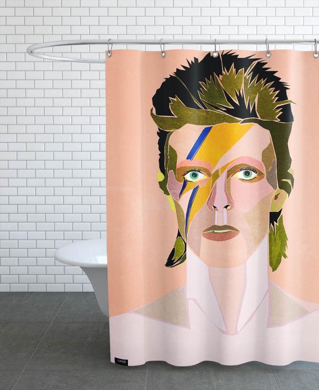 David Bowie Portrait -Duschvorhang