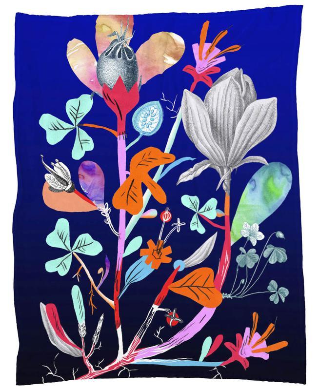 Botanica Blue Fleece Blanket
