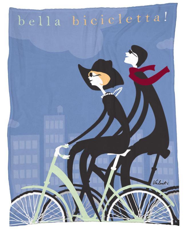 Bella Bicicletta Fleece Blanket