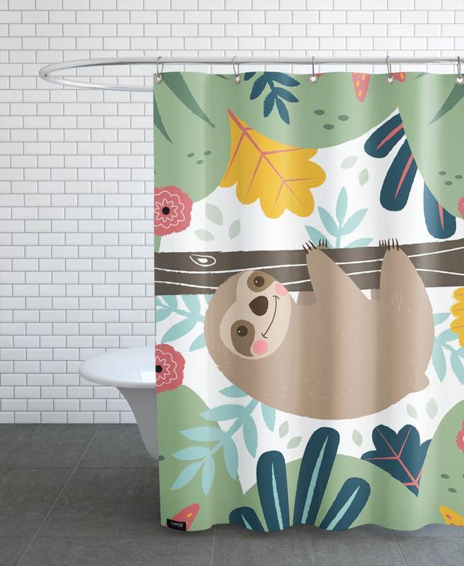 Sloth -Duschvorhang