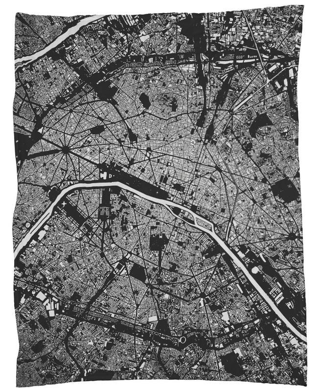 Paris Black -Fleecedecke