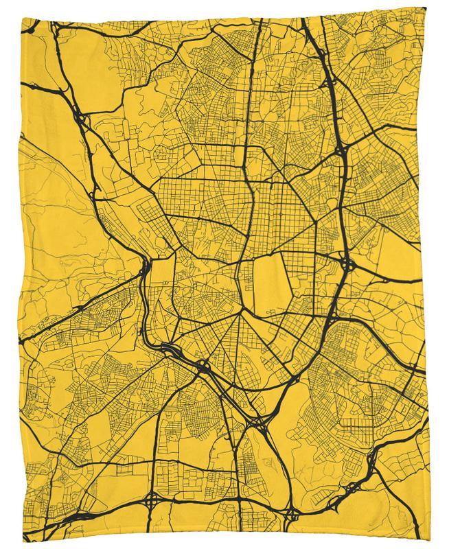 Madrid Yellow Fleece Blanket