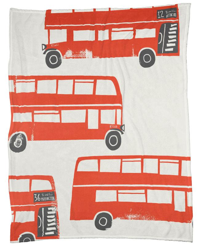 London Busses Fleece Blanket