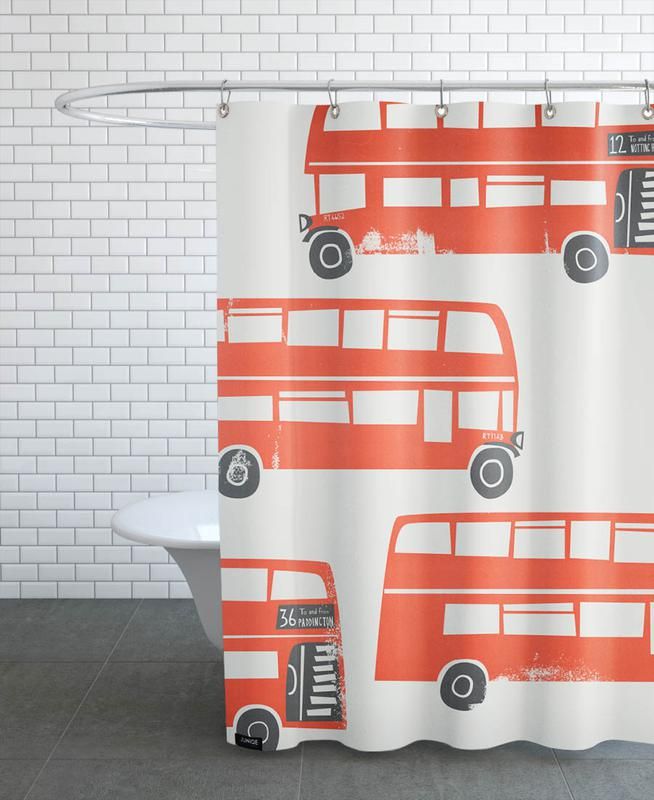 London Busses -Duschvorhang