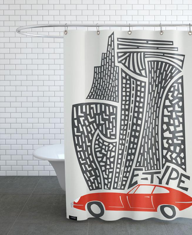E Type Shower Curtain