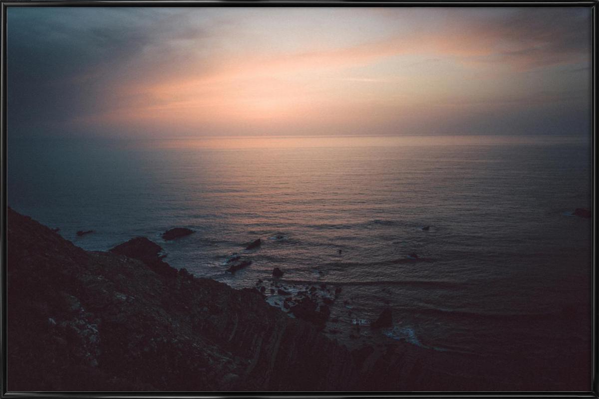 Taste of Sea Sunset Framed Poster