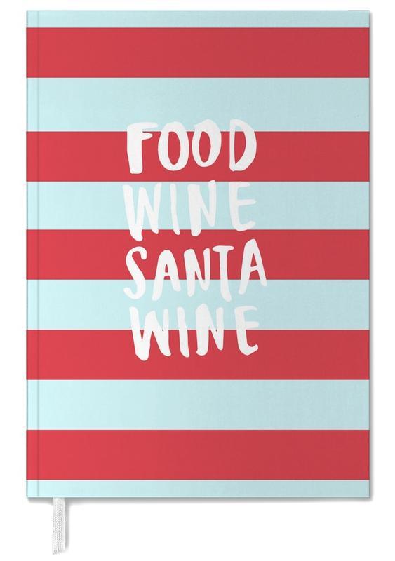 Food, Wine, Santa, Wine Personal Planner