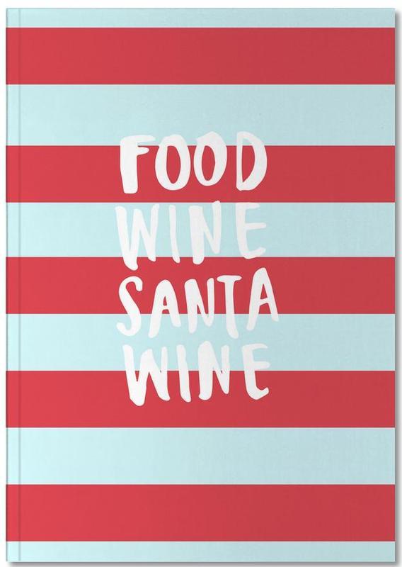 Food, Wine, Santa, Wine Notebook