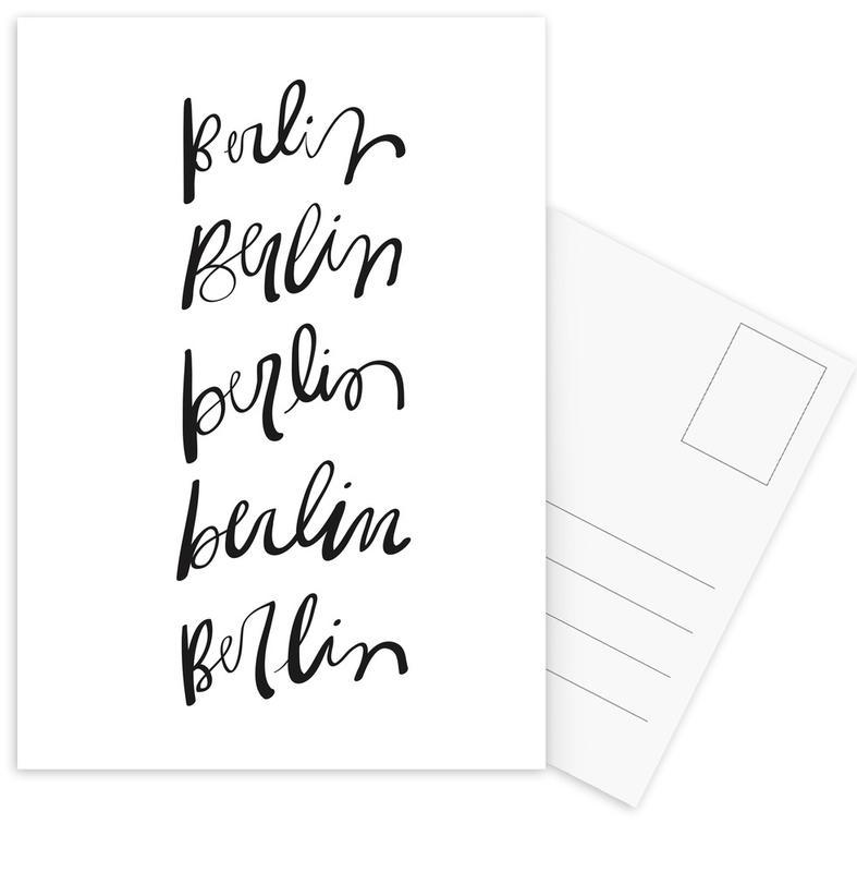 Berlin Typography Postcard Set