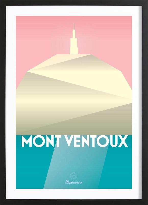 Mont Ventoux II affiche sous cadre en bois
