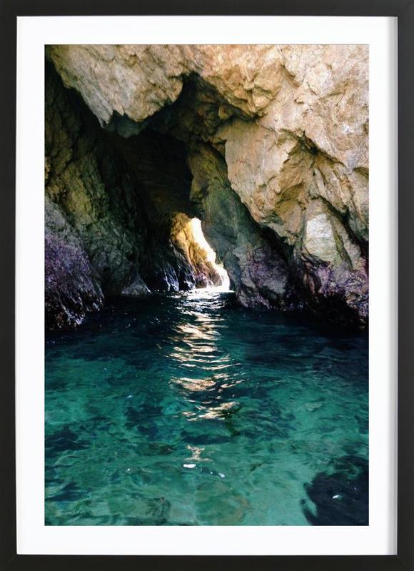 Colorful Ocean Cave Framed Print