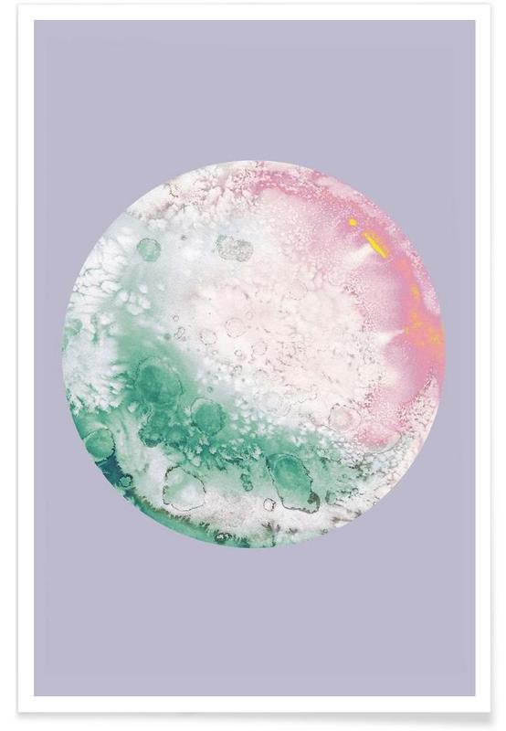 Ganymede lilac Poster