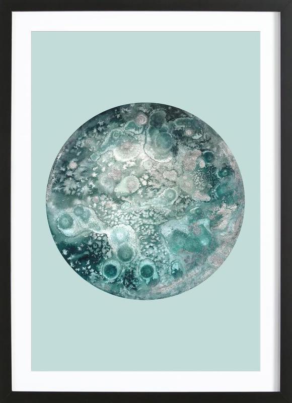 Neptune turquoise Framed Print