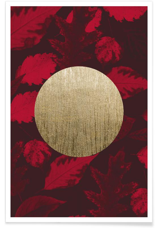 Gold Moon Red -Poster