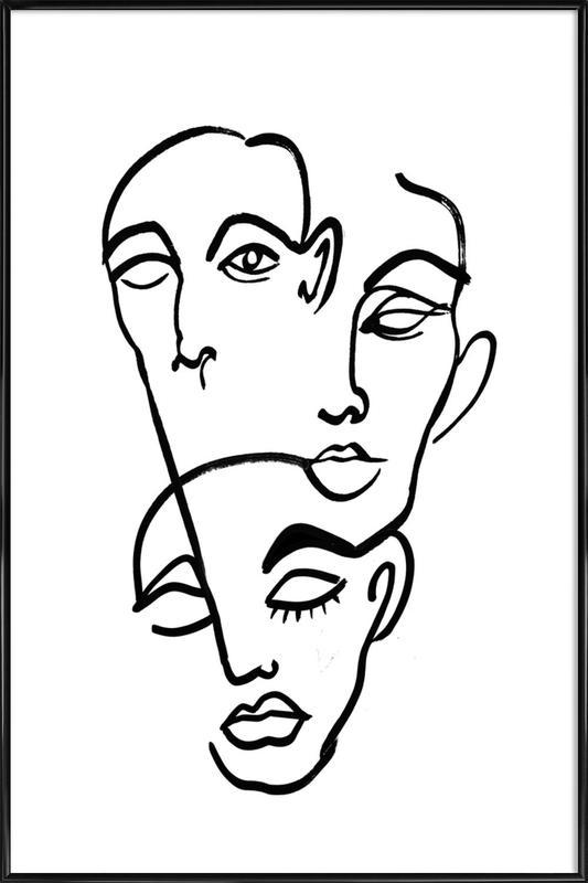 Faces 12 Framed Poster