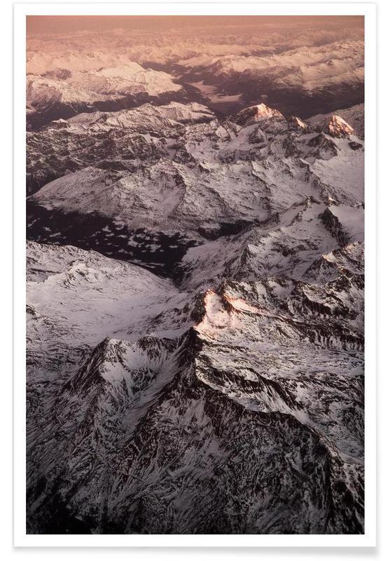 Pink Mountains Poster