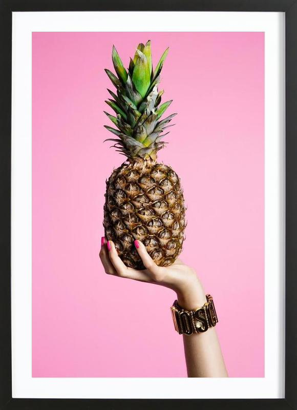 Pineapple ingelijste print