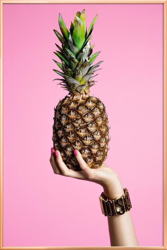 Pineapple poster in aluminium lijst