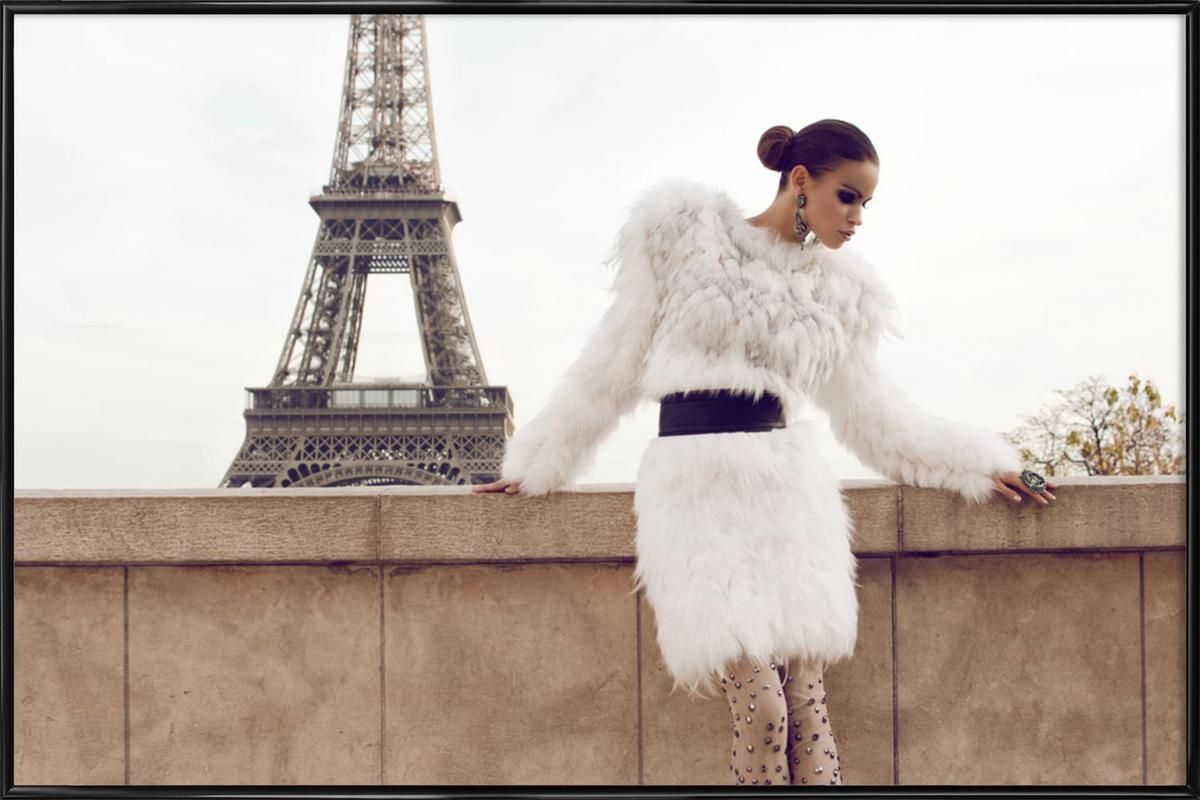 Tour Eiffel -Bild mit Kunststoffrahmen