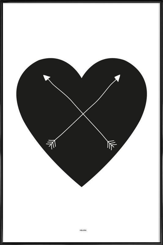 Heart -Bild mit Kunststoffrahmen