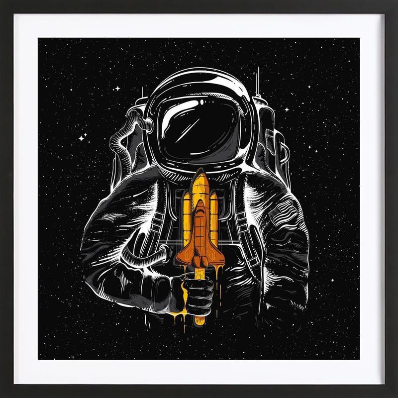 Space Popsicles Framed Print