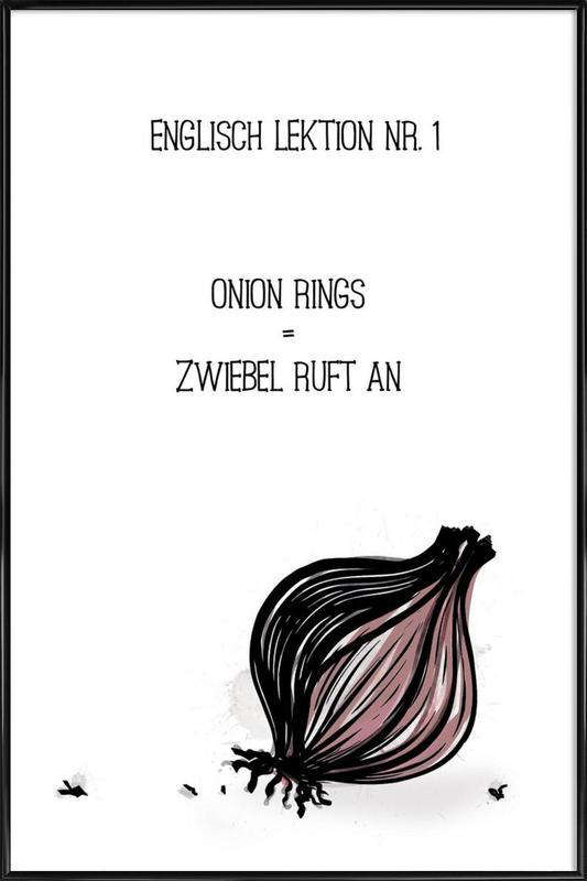 Onion -Bild mit Kunststoffrahmen